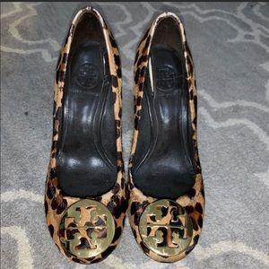 Tory Burch Cheetah Wedges